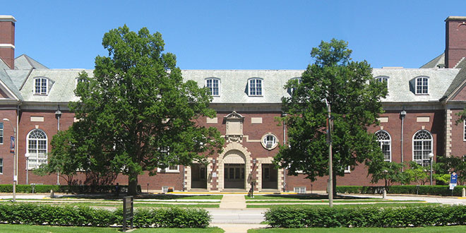 front of Huff Hall