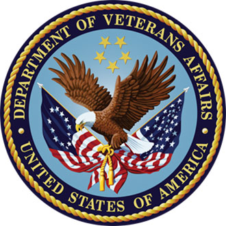 circular insignia with eagle for Veterans affairs